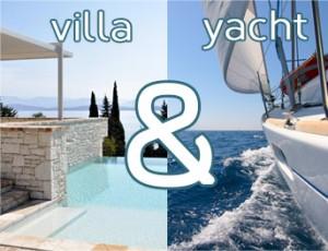 villa & yacht in corfu