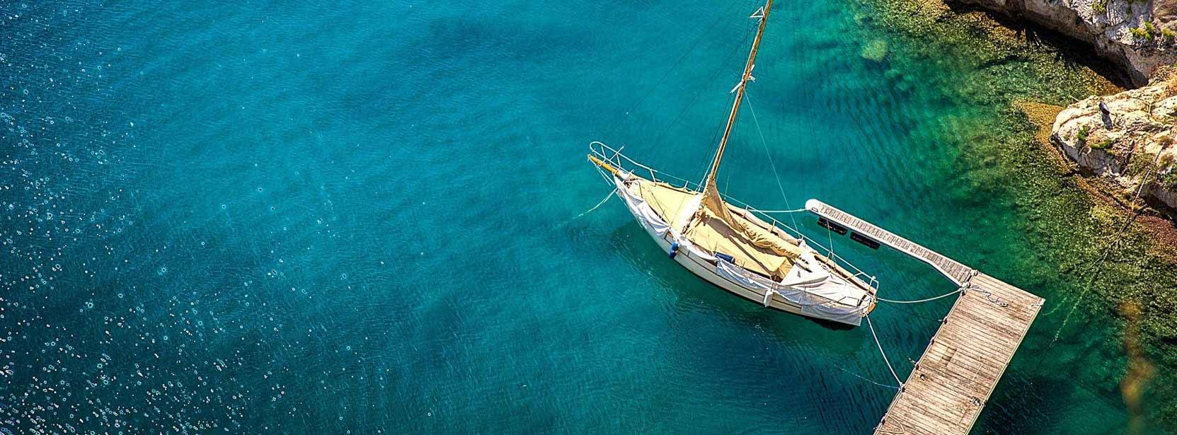 Yacht in Corfu