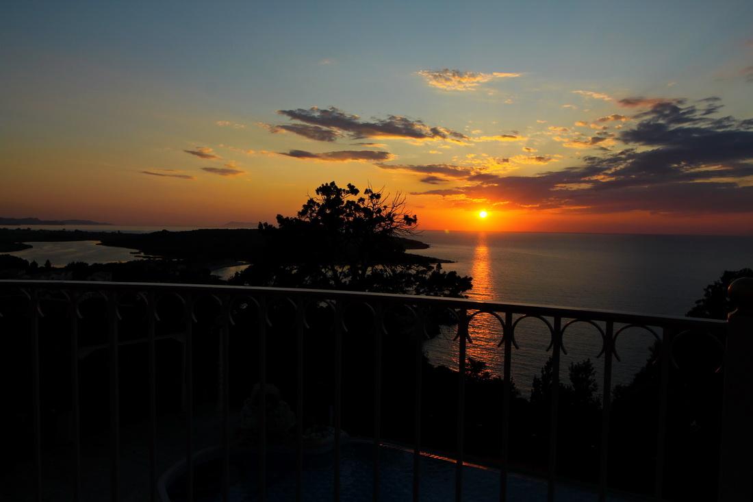 st nicholas,corfu,the sunset